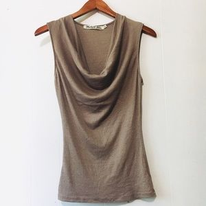 • michael stars draped neck sleeveless blouse •